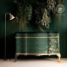 Diy Furniture Renovation, Diy Furniture Projects, Refurbished Furniture, Upcycled Furniture, Furniture Makeover, Gold Leaf Furniture, Green Furniture, Paint Furniture, Furniture Design