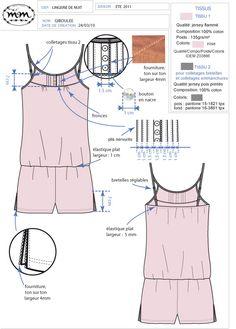 Elodie Aubry, Styliste / Infographiste Textile Portfolio : Corseterie/ Linge de nuit femme : Linge de nuit femme