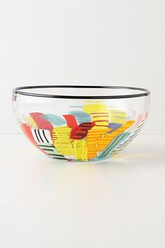 DIY Anthropologie Knockoff - Colored Brilliance Bowl