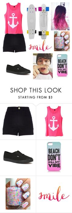 """""""Penny boarding w/Jc"""" by samy-101 ❤ liked on Polyvore featuring interior, interiors, interior design, home, home decor, interior decorating, River Island, Vans and Juicy Couture"""