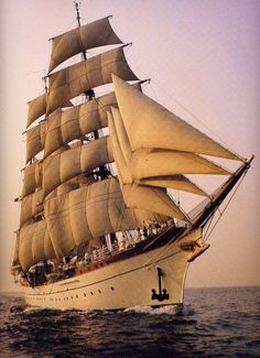 """GORCH FOCK I"" is a (269') 3-Masted German Barque - Built 1933 - The First of a Series Built as School Ships for the German Reichsmarine (German Navy from 1919-1935) (4)"