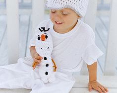 Olaf inspired plush character