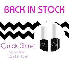 De novo em Stock: Quick Shine! O brilho sem goma exclusivo da Biucosmetics!  Visite-nos em www.biucosmetics.com #biucosmetics  #portugal #unhas #brilho #semgoma