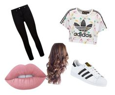 """""""the styled look"""" by azziahcobbfreeman on Polyvore featuring beauty, adidas Originals, Paige Denim, adidas and Lime Crime"""