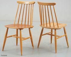 Ilmari Tapiovaara, Fanett Chair Design, Furniture Design, Nice Things, Scandinavian Design, Finland, Vintage Designs, Bar Stools, Dining Chairs, Interiors