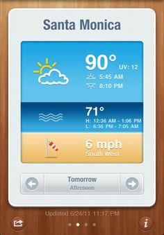 Beach Weather --> http://itunes.apple.com/us/app/beachweather/id440415215?mt=8