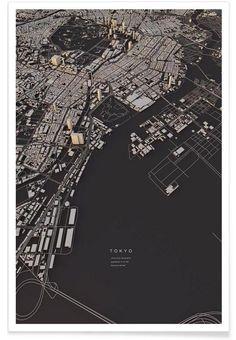 Tokyo City Map as Premium Poster