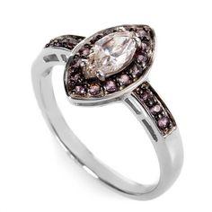 14K Gold Diamond & Pink Sapphire Ring LD4-05772WPSA