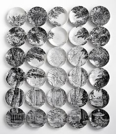 Molly Hatch's Plate Paintings  Based on Historic Source Paintings/Prints from NYC and Boston