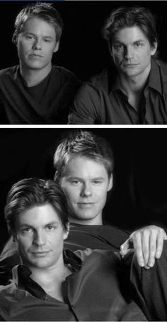 Gale and Randy on a Photoshoot. Brian E Justin, Film Gif, Randy Harrison, Brian Kinney, Gale Harold, Queer As Folk, Popular Series, Oh My Love, Television Program