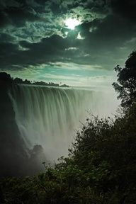 Victoria Falls between Zambia and Zimbabwe.