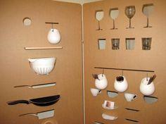 room dividers made of cardboard from Sandra Cabello Carvajal