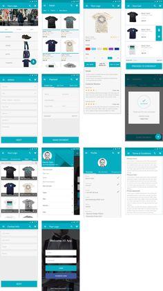 Mobile & UI: E-Commerce App for Material Design UI Kit (PSD)