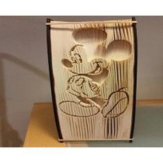 Mickey Mouse cut and fold book folding pattern.