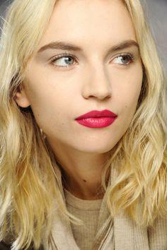 Electric pink lips @ Dries Van Noten