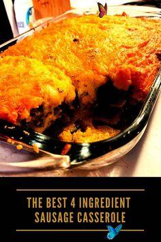 The Best 4 Ingredient Sausage Casserole 4 ingredient recipes dinner, 4 ingredient recipes dessert, 4 ingredient recipes dinner healthy, 4 ingredient recipes dinner easy meals, 4 ingredient recipes dinner crock pots, 4 ingredient recipes dinner chicken, 4 ingredient recipes dinner ground beef, 4 ingredient recipes healthy, easy 4 ingredient recipes, 4 ingredient recipes baking, 4 ingredient recipes dinner easy meals simple, crockpot 4 ingredient recipes, coconut cake easy 4 ingredients… Easy One Pot Meals, Easy Chicken Dinner Recipes, Quick Easy Meals, Healthy Dinner Recipes, Baking Recipes, Dessert Recipes, Desserts, Coconut Cake Easy, 4 Ingredient Recipes