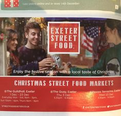 Little advert in Devon Life for Exeter Street Food features Hannah in her Two Coast County Christmas Jumper!