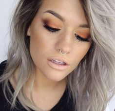 Matte Nude Lips and Clean Eyeshadows