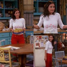 monica geller's style Fashion Tv, Fashion Outfits, Monica Friends, Rachel Green Outfits, Top Tv Shows, Olive Pants, Friend Outfits, Friends Fashion, Character Outfits