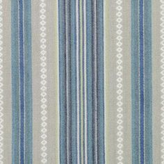 Natural/Blue by Duralee Striped Fabrics, White Fabrics, Drapery Fabric, Fabric Decor, Natural Blue Diamond, Rh Rugs, Fabulous Fabrics, Fabric Swatches, Blue Fabric