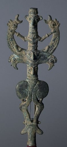 Unknown, Iranian  Master of Animals Finial, 799 BCE - 700 BCE Iranian Metalwork, made in Luristan Bronze =