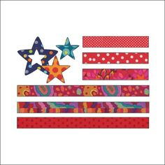 Red, White and Blue - Applique
