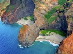 Also known as Cathedral Beach, Honopu—like Waipio Valley—is quite difficult to reach.
