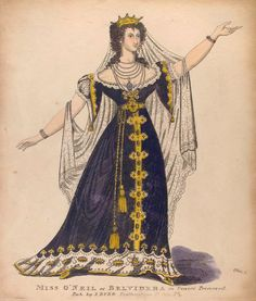 Miss O'Neil as Belvidera, from *Venice Preserved.* A lovely costume. Preserved from what, I wonder?