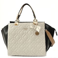 e9b084333bbb GUESS Women s Ines Chalk Multi Tote Guess Handbags