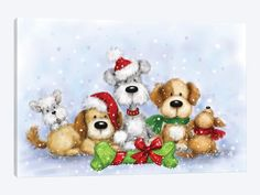 Christmas Scenes, Christmas Pictures, Christmas Art, All Things Christmas, Vintage Christmas, Christmas Decorations, Christmas Drawing, Christmas Paintings, Christmas Clipart
