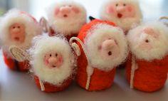 Needlefelted Santas
