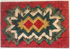 Folded Fabric Stars, Somerset Patchwork, Prairie Point Quilt, Placemat