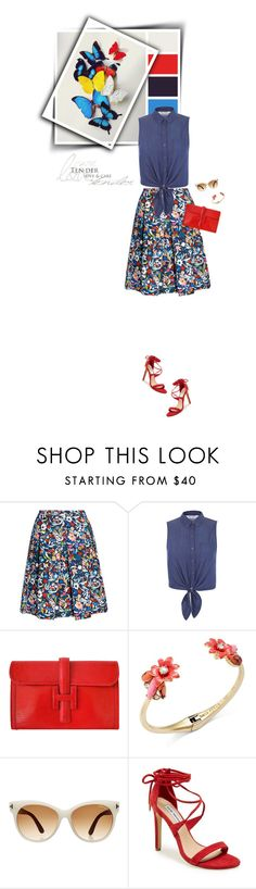 """""""Butterflies (Top Fashion Sets for Aug 14th, 2015)"""" by sophiek82 ❤ liked on Polyvore featuring Saloni, Miss Selfridge, Hermès, Kate Spade, Tom Ford and Steve Madden"""