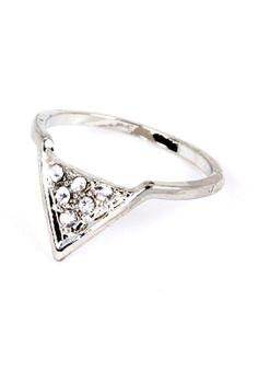 CHATOaccess Delicate Triangle Rhinestone Ring : CHATOaccess