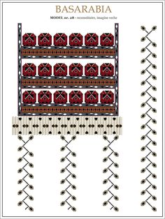 Semne Cusute: iie din BASARABAI - model (28) Folk Embroidery, Embroidery Patterns, Cross Stitch Patterns, Hama Beads, Beading Patterns, Pixel Art, Projects To Try, Traditional, Sewing