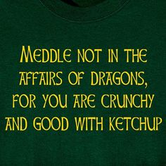 MEDDLE NOT IN THE AFFAIRS OF DRAGONS SHIRTS