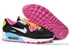 new concept 16ef7 71b5e meilleurs chaussures de running Nike Air Max 90 Noir ColoRouge Argent