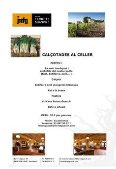 Calçotades at Celler Ferret Guasch  ferretguasch@ferretguasch.com  Tel.: 93-8979037