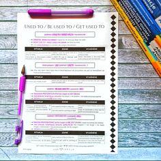 Gramatyka - Used to Perfect English, School Notes, Planer, Hand Lettering, Study, Education, School Grades, Studio, Handwriting