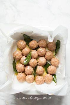 Polpette di Tacchino pronte per la cottura - Ricetta Polpette di Tacchino