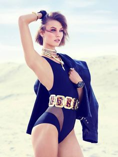 Swimsuit Clad Karlie Kloss Poses for Miguel Reveriego in Vogue Turkey June 2013 | Fashion Gone Rogue: The Latest in Editorials and Campaigns