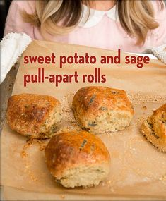 Sweet Potato and Sage Pull Apart Rolls from Bread & Butter by Erin McKenna | Bob's Red Mill @bobsredmill | gluten free, vegan