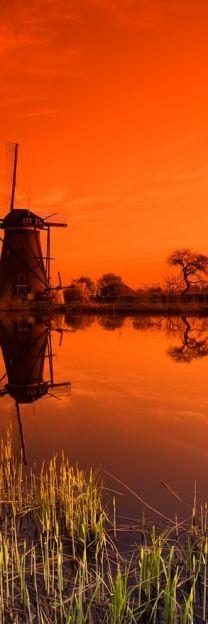 orange #windmill #amsterdam #sunset                                                                                                                                                      More