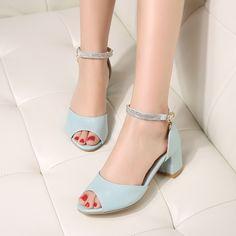 Women Sandals Platform Pumps High Heels Shoes Ankle Straps 5760