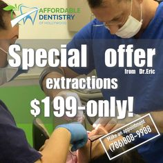 Hurry up! 🍎Special offer – extractions at $199 only! Promo is valid during limited period of time. (D7210, excluding full bony impacted teeth). 🍏Affordable Dentistry of Hollywood 👉http://www.affdentistry.com 🏥Address: 2219 Hollywood Blvd #104, Hollywood, FL 33020 📞Ph 24/7 & Emergency: (786)808-9988, (954)589-2176 🕙Mo to Fr 9am-6pm; Sa 9am-1pm #affdentistry #miamidentist #miamiorthodontist #miamismiles #miamibeauty #miamilife #brickell #miamievents #downtownmiami #miamistyle #southmiami…
