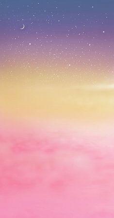 Ciel romantique - P& Style - Fond photo Pastel Iphone Wallpaper, Rainbow Wallpaper, Watercolor Wallpaper, Iphone Background Wallpaper, Kawaii Wallpaper, Galaxy Wallpaper, Cellphone Wallpaper, Pastel Color Wallpaper, Aesthetic Pastel Wallpaper