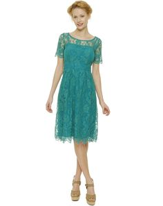 Edina Ronay Turquoise Lace Dress ... Perfect for Ascot