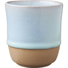 Shop SAIC yunomi sky blue teacup.  SAIC yunomi teacup was created exclusively for Design Collab.  This CB2 collaborative, now in its second year, brings together like-minded souls and design institutions.  Design Collab No.