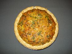 Crab & Spinach Quiche