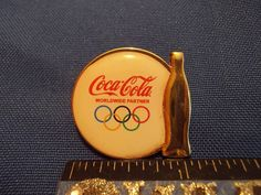2016 Rio Olympic Sponsor Pin Coca Cola Golden Bottle